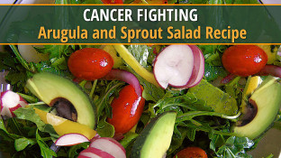 Cancer Fighting Arugula & Sprout Salad Recipe