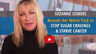 Suzanne Somers Reveals Her Weird Trick to Stop Sugar Cravings & Starve Cancer (video)