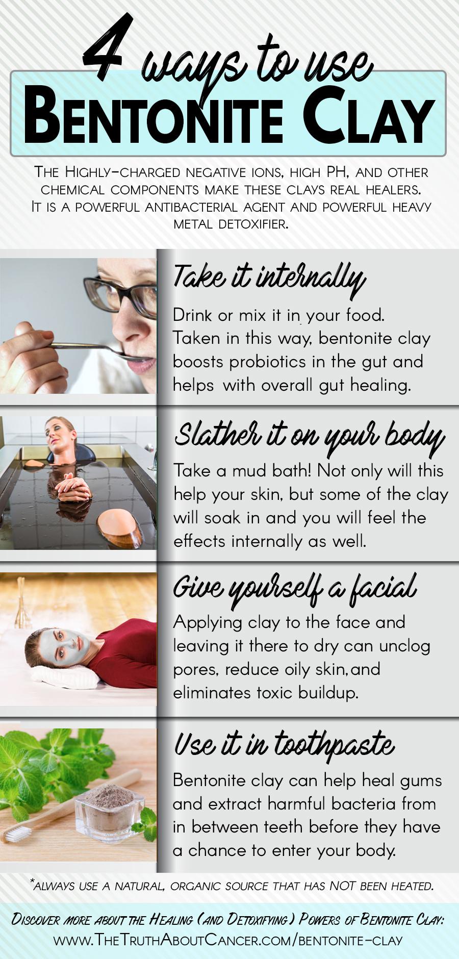 4 ways to use bentonite clay