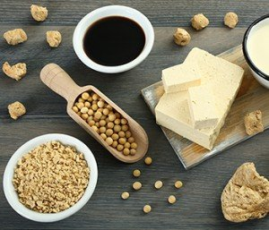 Be very cautious with soy products. At most, limit your consumption to organic fermented soy such as tempeh and miso