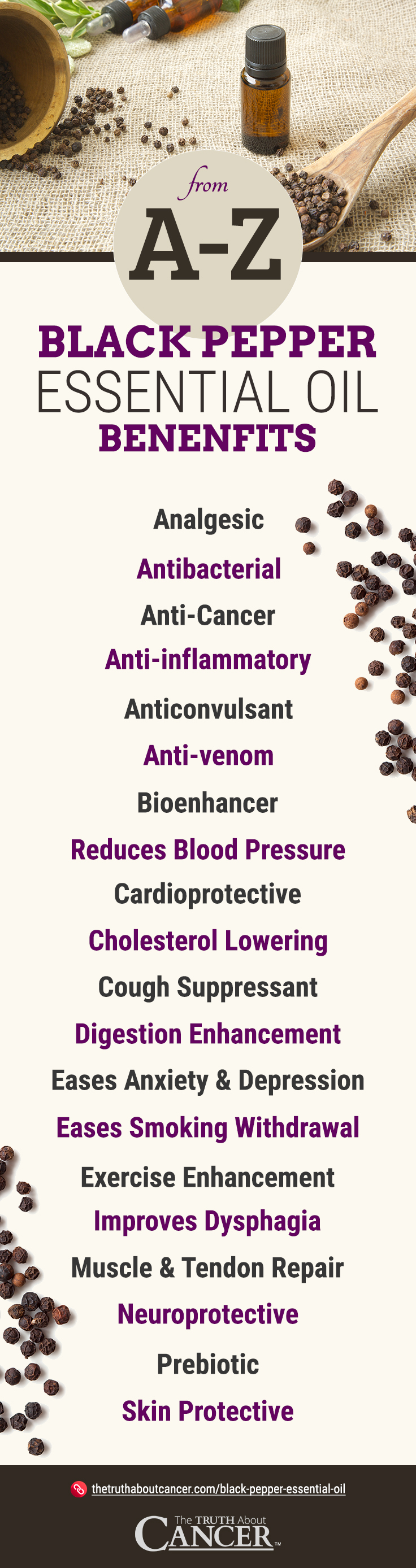 Black Pepper EO - Infographic