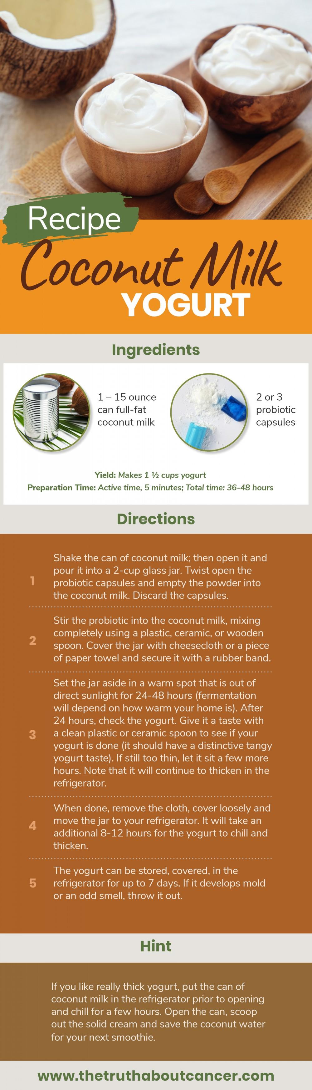 coconut yogurt infographic
