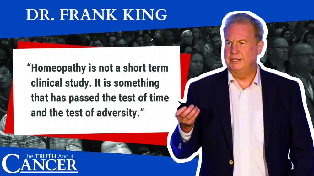 Dr. Frank King quote on homeopathy uses