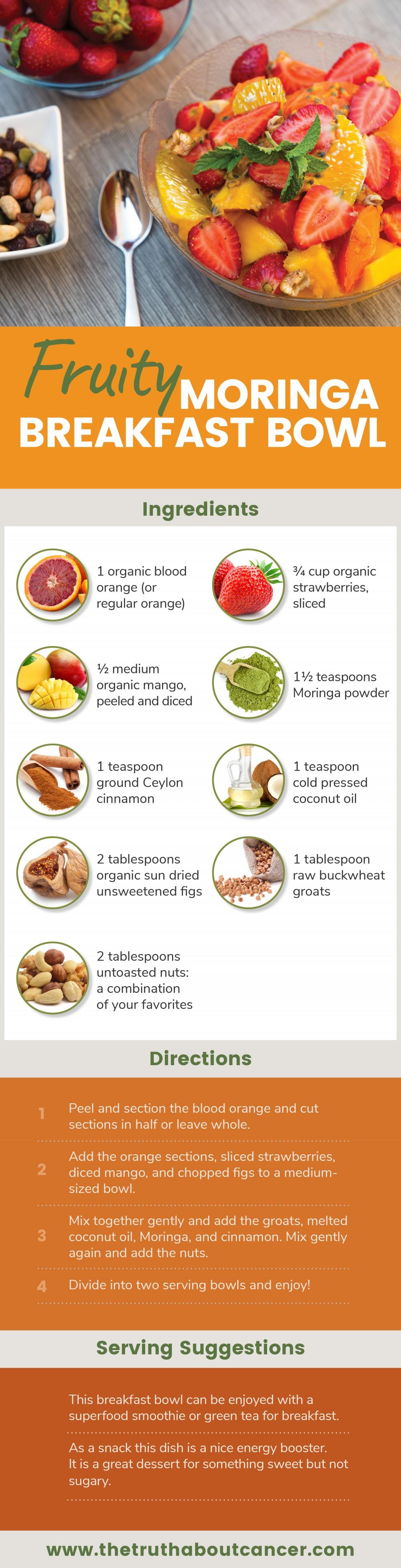 fruity moringa breakfast bowl infographic