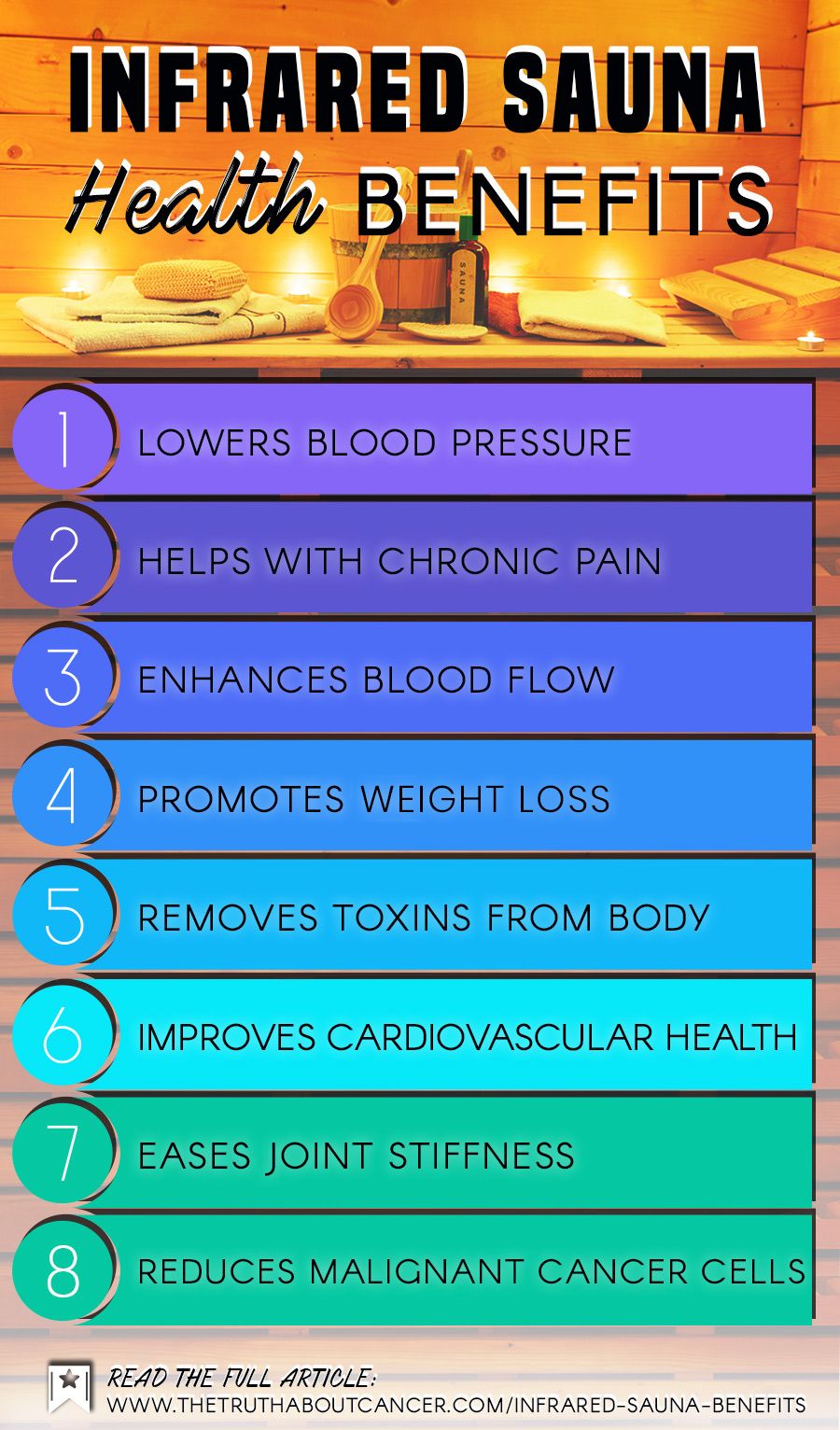 infrared sauna benefits infographic
