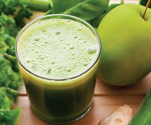 Juicing fresh greens is a fantastic way to boost your antioxidant levels