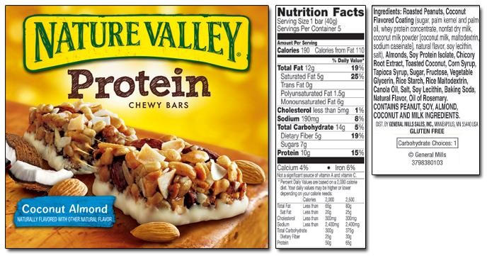 Nature ValleyProtein Chewy Bars