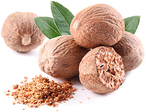 Nutmeg is the seed of the Myristica tree and is usually sold in powdered form