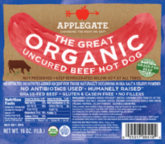The Great Organic Uncured Beef Hot Dog