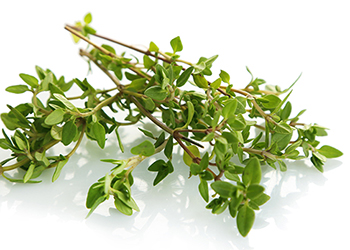 Thyme is a good source of vitamin C, iron, and manganese and is delicious in bean, egg, and vegetable dishes