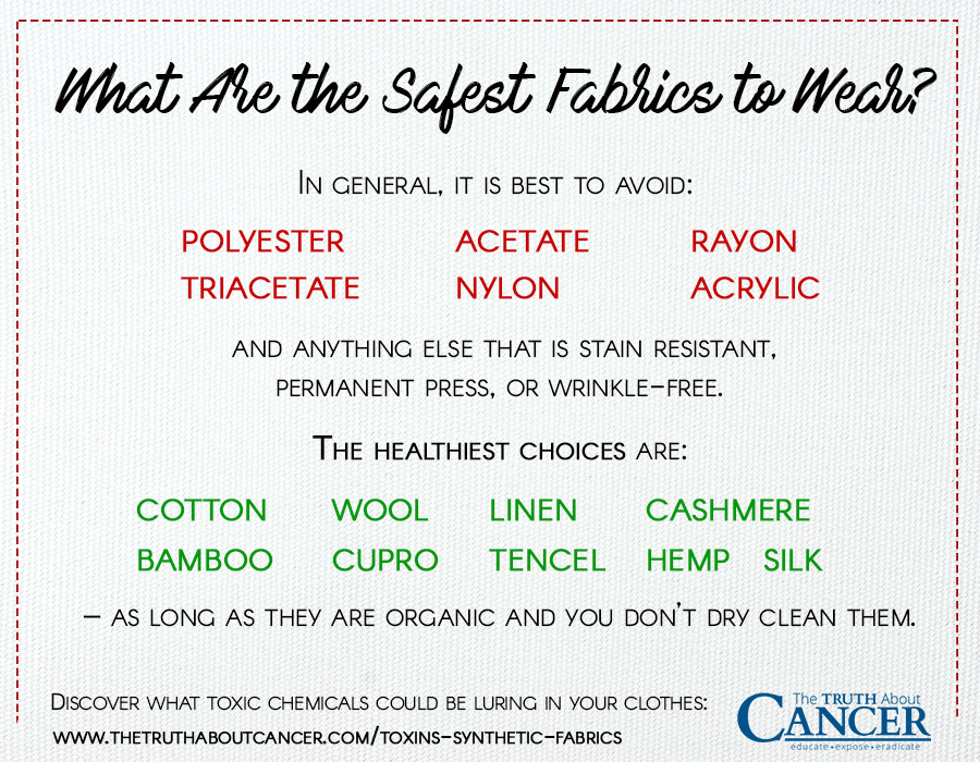 What are the safest fabrics to wear?