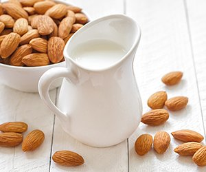 In one study, almond milk slowed the growth of prostate cancer cells, while cow's milk caused the cancer cells to grow faster