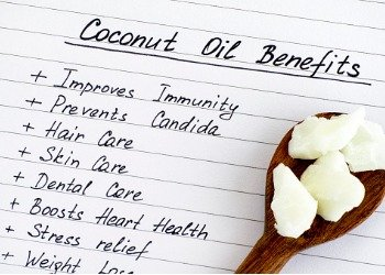 list of coconut oil benefits