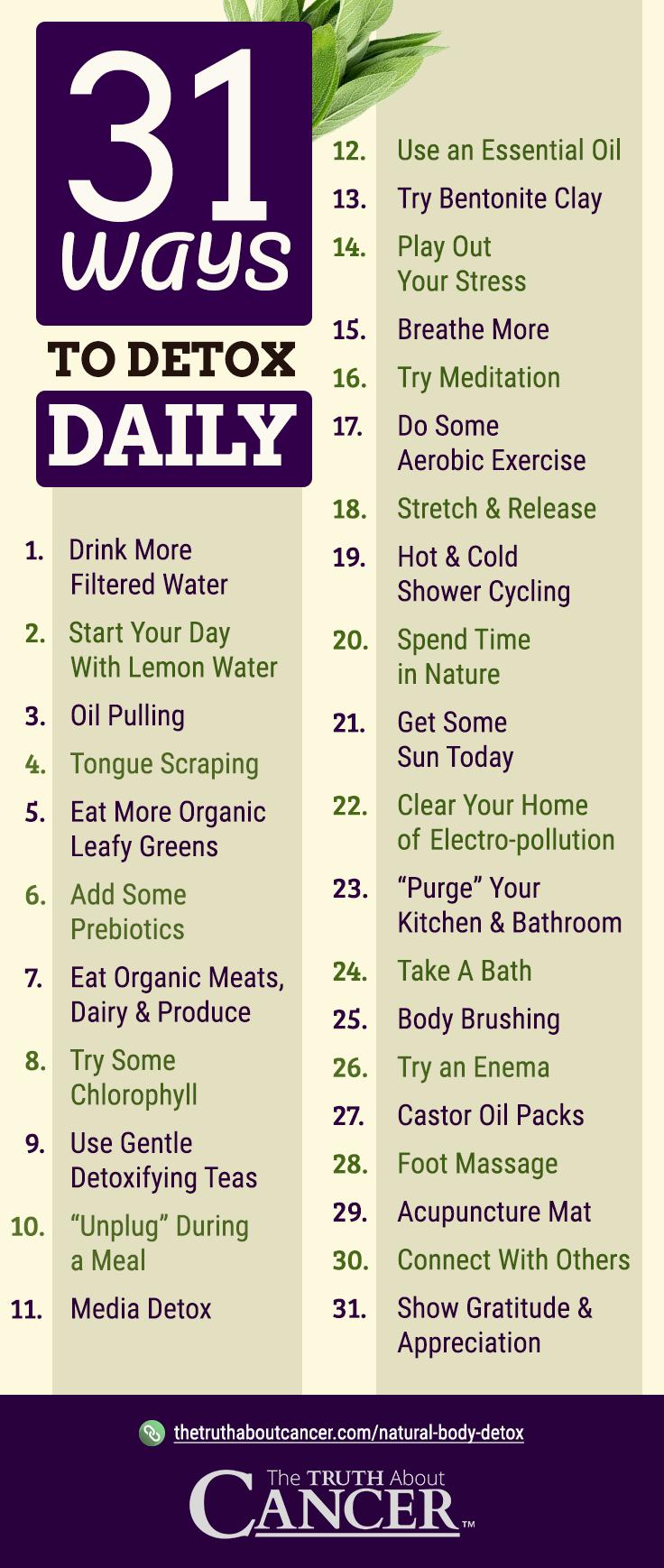 31 Ways to Detox Daily